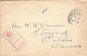Fred's envelope 1918